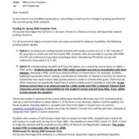 Important information pertaining to spring semester grading